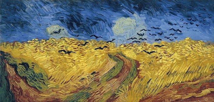 1890 trigal con cuervos 50.2 cm × 103 cm Museo van Gogh