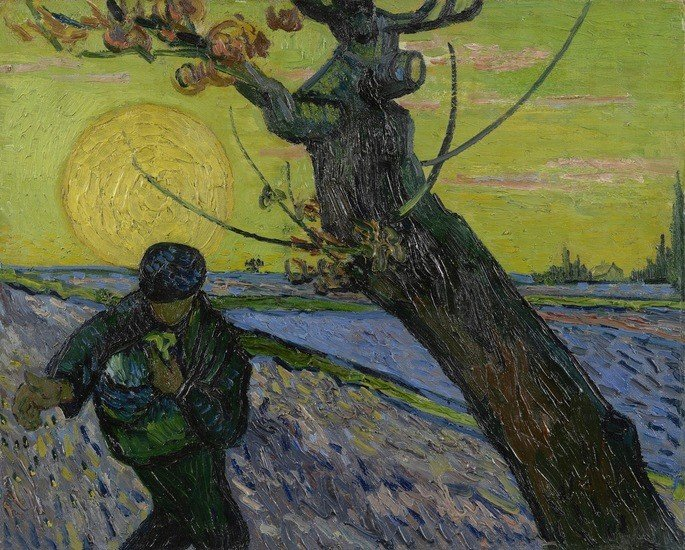 1888 El sembrador Arles, November 1888 oil on canvas, 32.5 cm x 40.3 cm Van Gogh Museum, Amsterdam (Vincent van Gogh Foundation)