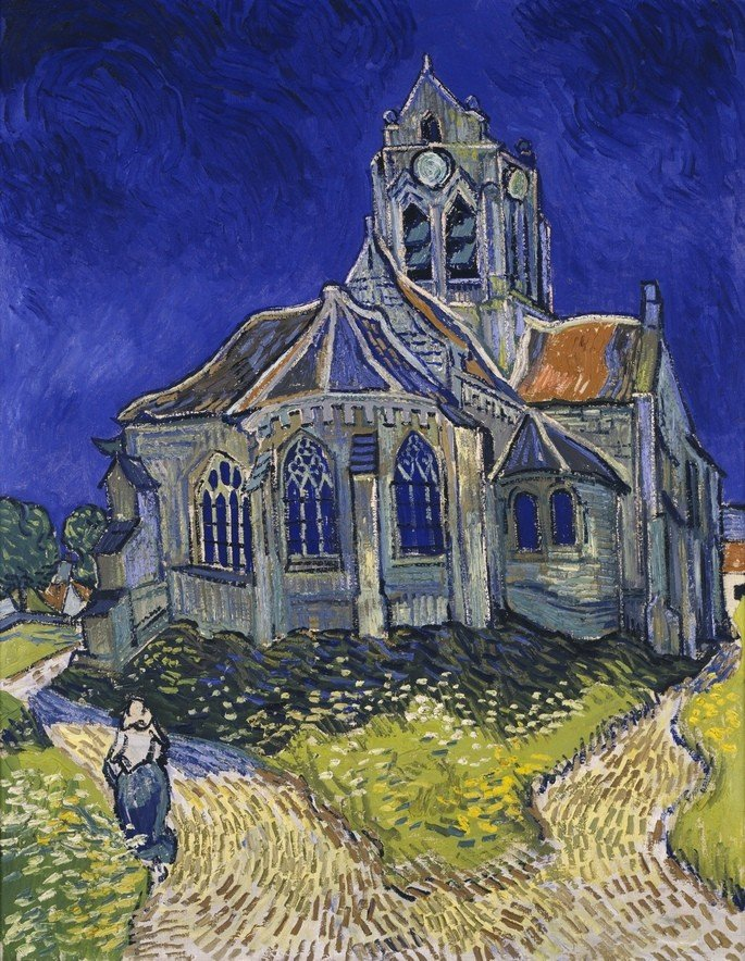 1890 La iglesia de Auvers-sur-Oise 94 cm × 74 cm museo d orsay