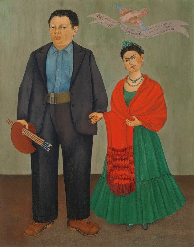 1931 Frida y Diego Rivera 1931 óleo sobre lienzo 100 x 79 cm San Francisco Museum of Modern Art San Francisco