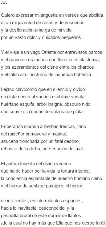 Significado De Poema Nocturno De Rubén Darío Cultura Genial