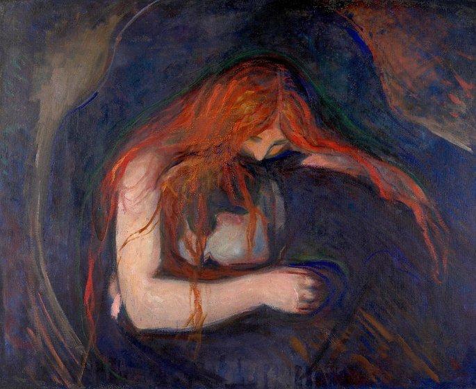 Edvard Munch: Amor y dolor, 1893, óleo sobre lienzo, 91 cm x 109 cm, Museo Munch, Oslo