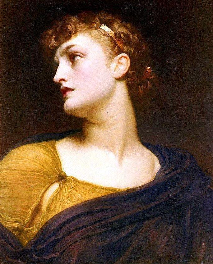 Pintura de Antigona de Frederic Leighton