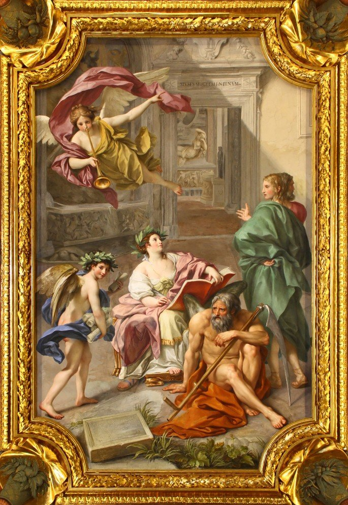 Anton_Raphael_Mengs,_The_Triumph_of_History_over_Time_(Allegory_of_the_Museum_Clementinum),_ceiling_fresco_in_the_Camera_dei_Papiri,_Vatican_Library,_1772_-_M0tty (1)