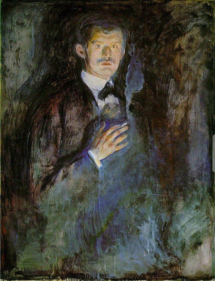 Autorretrato con cigarrillo, 1895