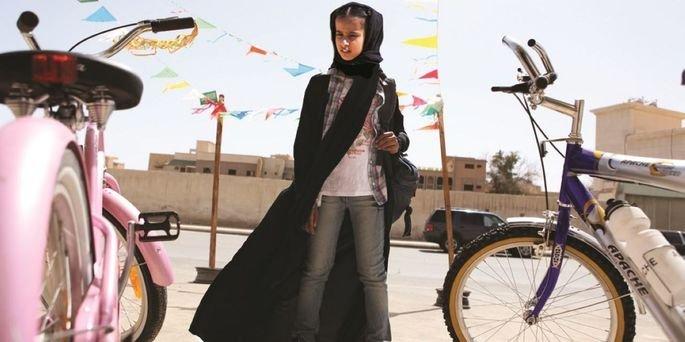 Fotograma de la película La bicicleta verde