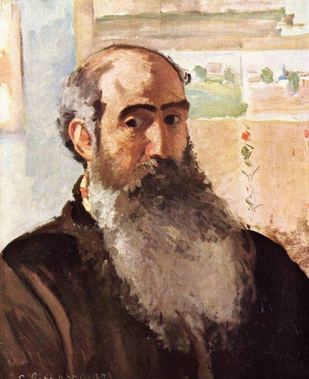 Camile Pissarro. Autorretrato. 1873.