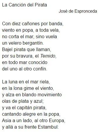 Significado Del Poema La Canción Del Pirata De José De