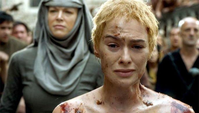 Castigo de Cersei en Game of Thrones