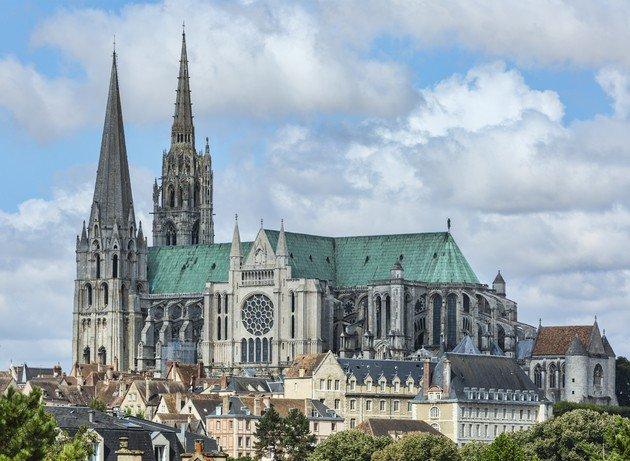 Catedral de Chartres, fachada.