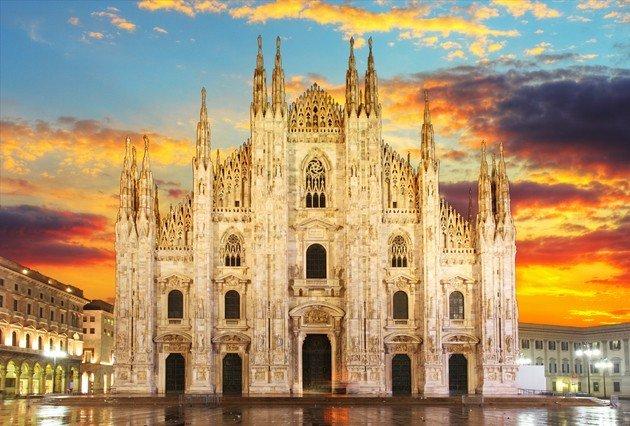 Catedral de Milán, fachada.