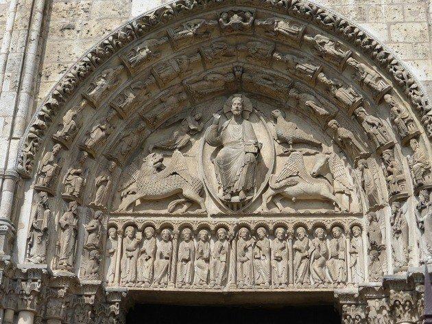 Tímpano de la fachada principal Chartres