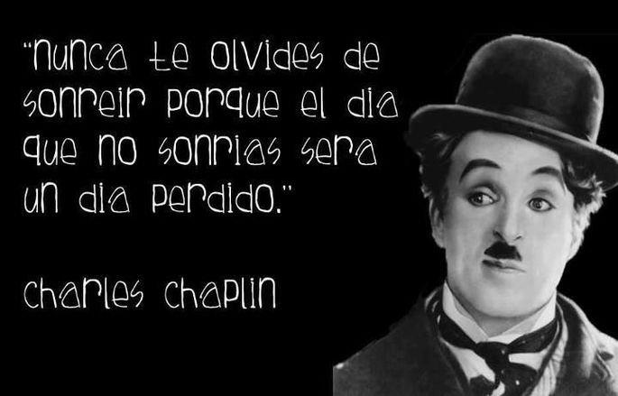 Cita Charles Chaplin.