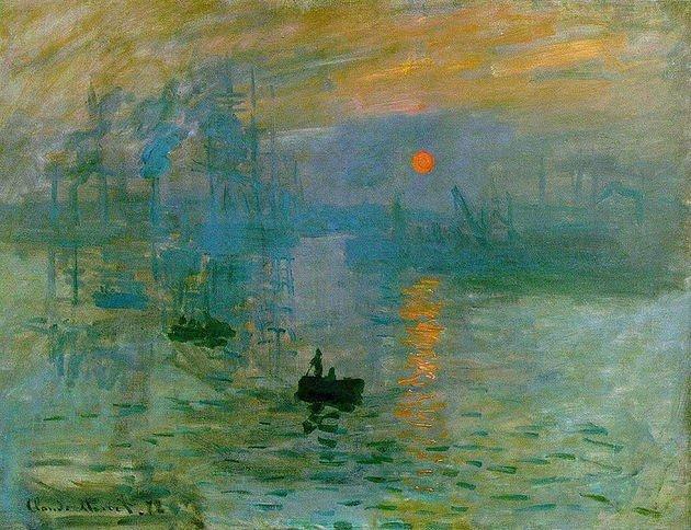 Monet Impresión del sol naciente 1872