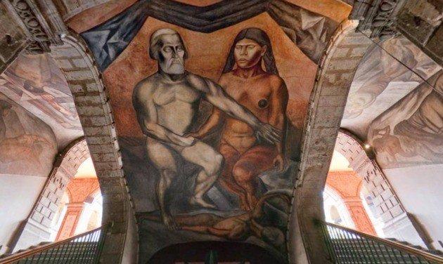 Orozco Cortes y la malinche