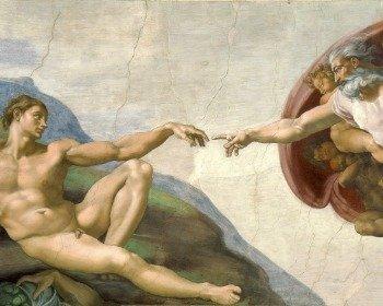 Cuadro La creación de Adán de Miguel Ángel