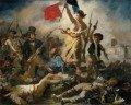 Cuadro La Libertad guiando al pueblo de Delacroix