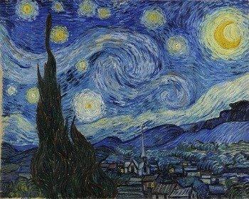 Cuadro La noche estrellada de Van Gogh
