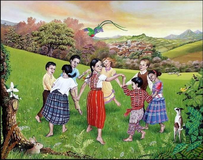 Ilustración de un juego de niños.