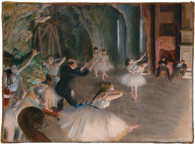 Degas Ensayo de ballet en el escenario