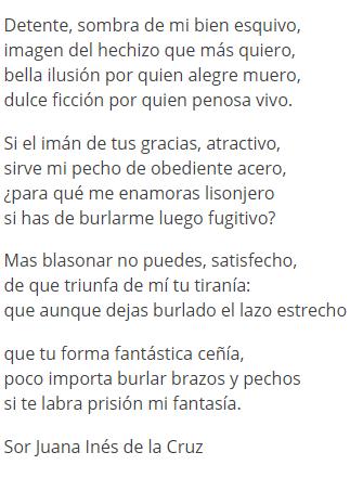 Significado De Poema Detente Sombra De Mi Bien Esquivo De