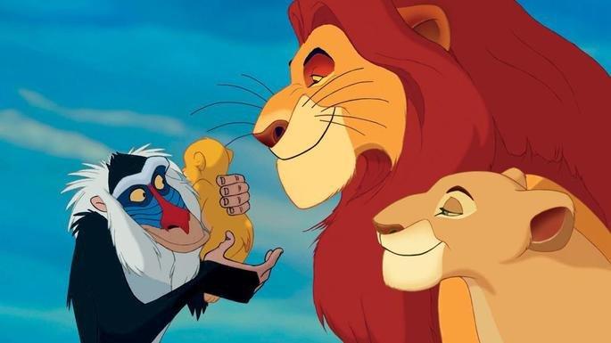 Fotograma de la película El rey león