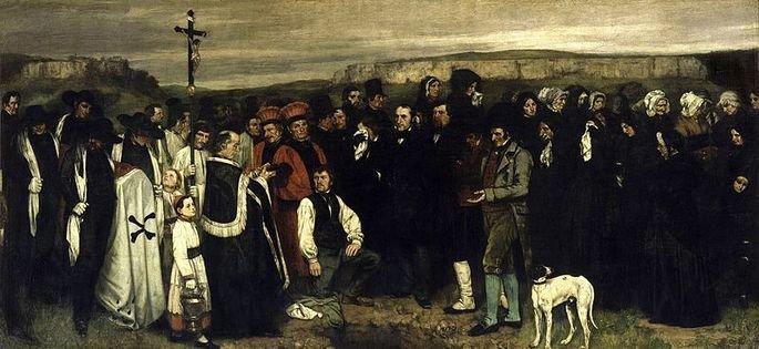 Entierro en Ornans Courbet