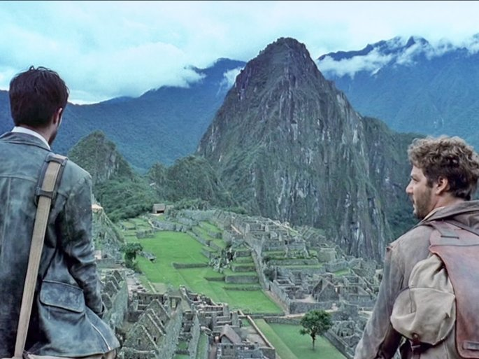 Ernesto y Alberto en las ruinas incas de Machu Picchu