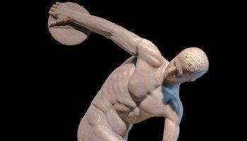Escultura El discóbolo de Mirón