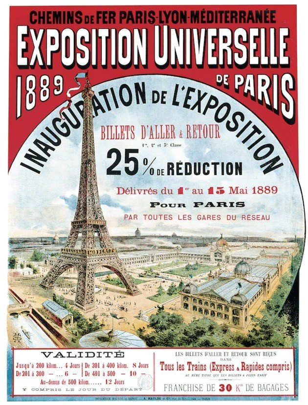 Cartel de la Exposición Universal de 1889