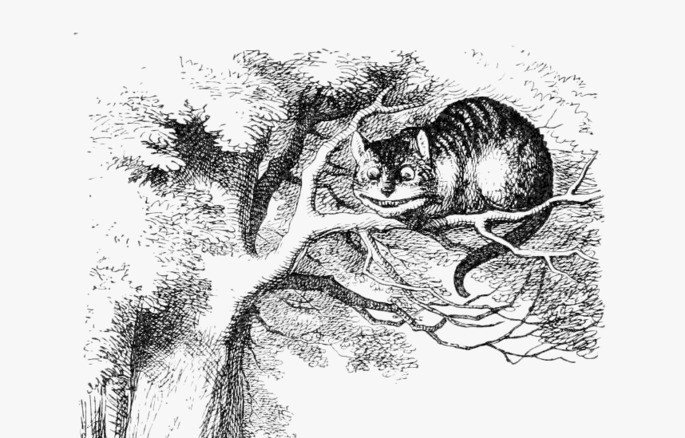 Gato Cheshire Ilustración