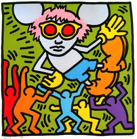 haring andy-mouse-1986