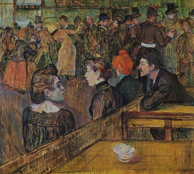 Toulouse-Lautrec Baile en el Moulin de la Galette