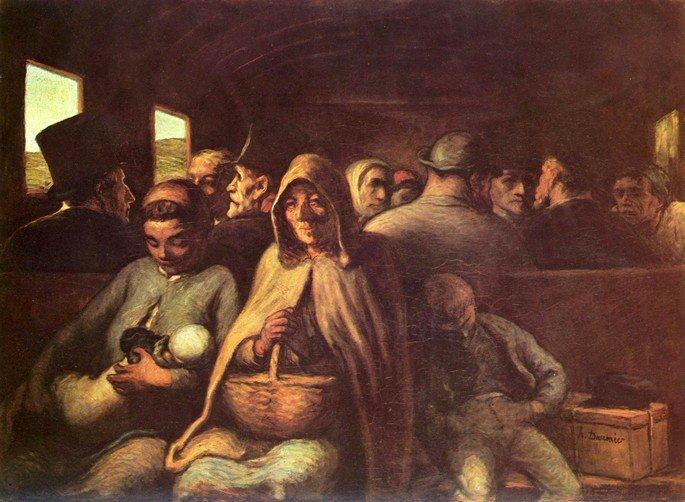Carruaje de tercera clase de Honoré Daumier