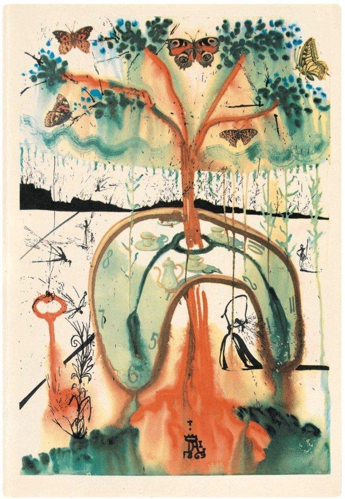 Ilustración 'Merienda de locos' de Salvador Dalí.