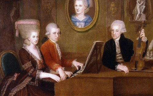 Mozart y familia