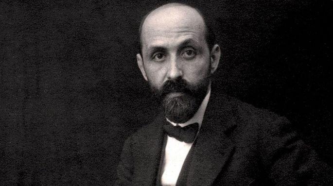 Fotografía en la que aparece Juan Ramón Jiménez