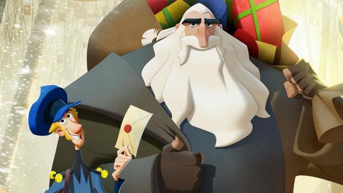 Fotograma de la película en el que aparecen Jesper y Klaus