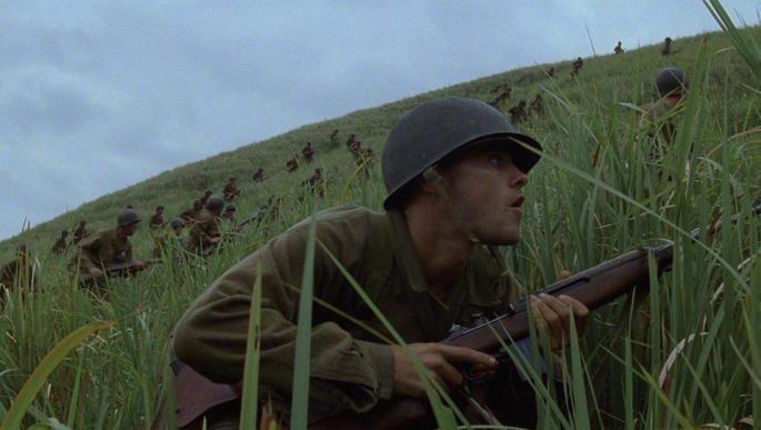 Fotograma de la película La delgada línea roja