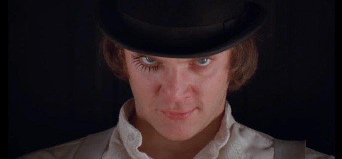 Fotograma de la película La naranja mecánica