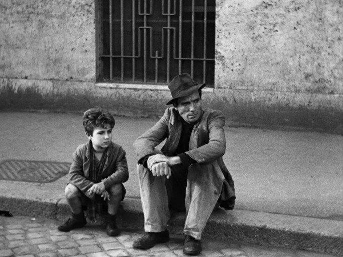 Fotograma de la película Ladrón de bicicletas