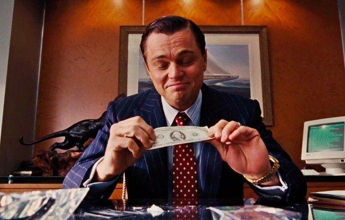 Fotograma de la película el lobo de Wall Street