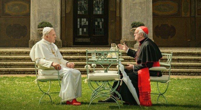 Fotograma de la película Los dos Papas