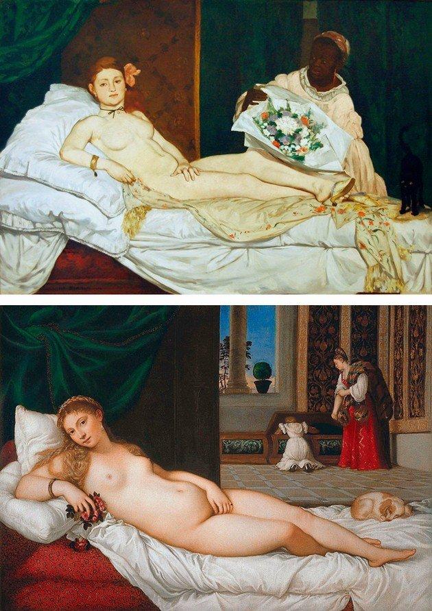 Manet y Tiziano