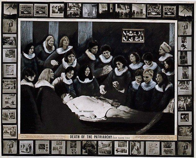 Mary Beth Edelson La muerte del patriarcado