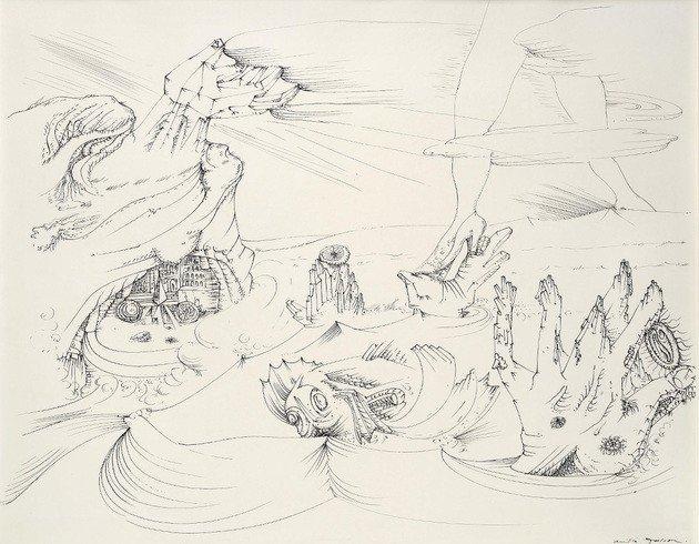 La mer se retire (O mar se retira) 1941 - André Masson