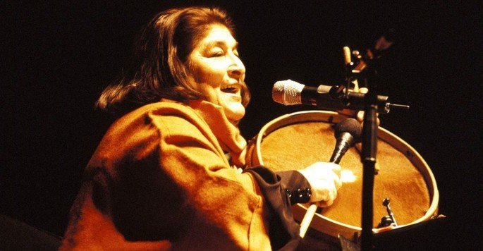Fotograma del documental Mercedes Sousa La voz de latinoamerica