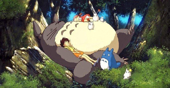 Fotograma de la película Mi vecino Totoro