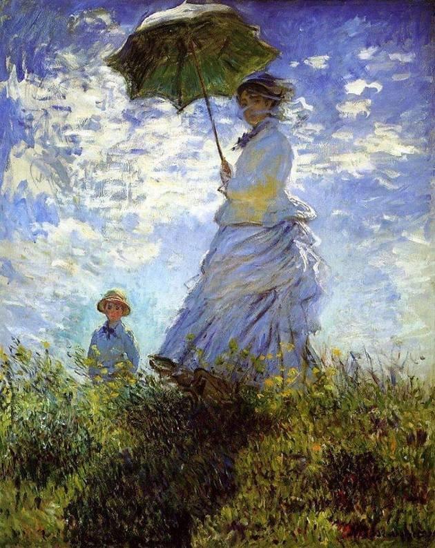 monet madame monet con su hijo