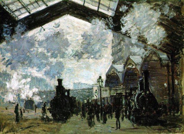 Monet estacion de tren St. Lazare